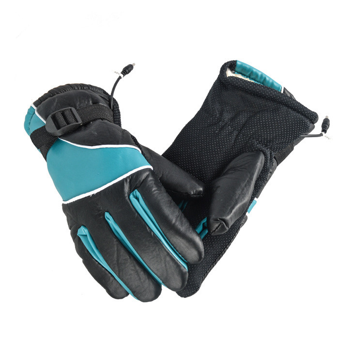 N313  PU Leather 12V-72V Winter Electric Thermal Gloves Heated Gloves Battery Powered Waterproof Motorcycle Gloves