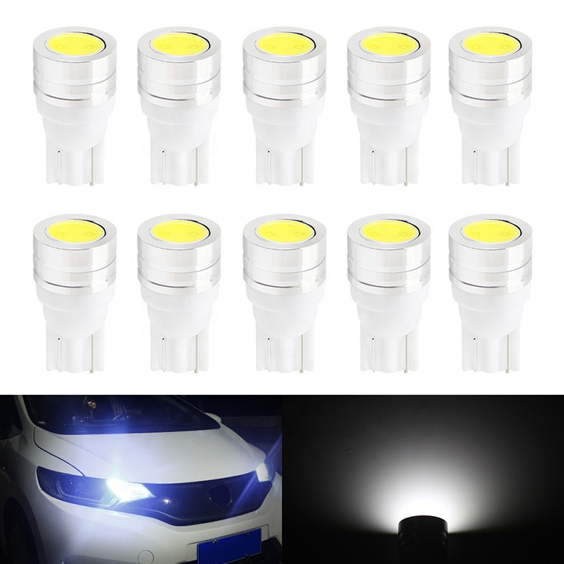Factory wholesale  T5 COB 1SMD Astigmatism Indicator Light bulb Wedge LED white color Car Auto Dashboards Bulbs