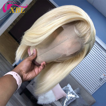 XBL Wholesale 613 blonde bob human hair wigs,wholesale price peruvianshort 613 human hair lace front wigs for black women