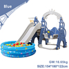 Blue slide swing with ball pool
