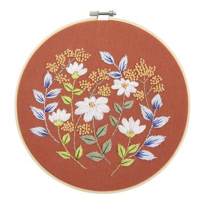 Cross Stitch Kit Stamped Cross-Stitch Diy set Embroidery Starter Kit Set With Flowers Plants Pattern