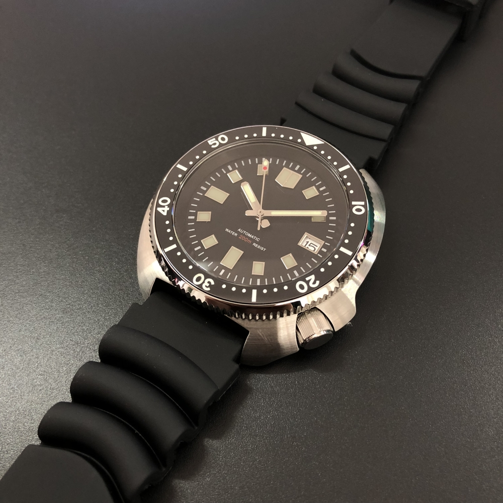 No Logo Dive Watch! SD1970 20ATM 200m Water Resistian NH35 Mechanical Automatic Men Diving Watch 6015