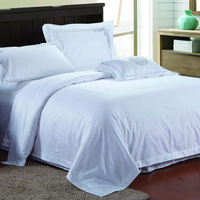 Luxury Hotel Home Textile Pure White Cotton Bed Linens Bed Sheet
