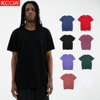 2019 KCOA Hot Selling Low MOQ Black Blank Cotton Mens T Shirts Custom Printing