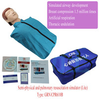 Advanced adult CPR human training model,Adult first aid nursing practice model,Half body CPR mannequin