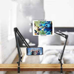 ROCK Flexible Tablet Holder 2 Long Arms Clip Mount Universal Cell Phone Holder Mobile Phone Stand Tablet Lazy Bracket