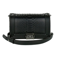 Newest pictures lady fashion handbag from guangzhou custom python skin lady shoulder bag