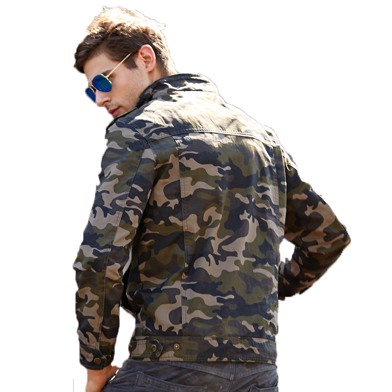 Fall/winter new American <strong>military</strong> <strong>style</strong> camouflage casual stand collar tooling trend <strong>jacket</strong> for men