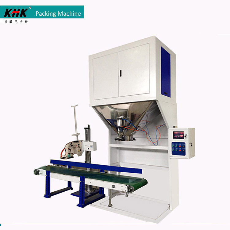 25-50kg Granules Salt Packing Machine With Sewing Machine and Conveyor