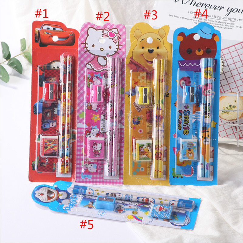 Creative stationery children's prize student stationery set gift box primary school student supplies 5 piece school stationery b