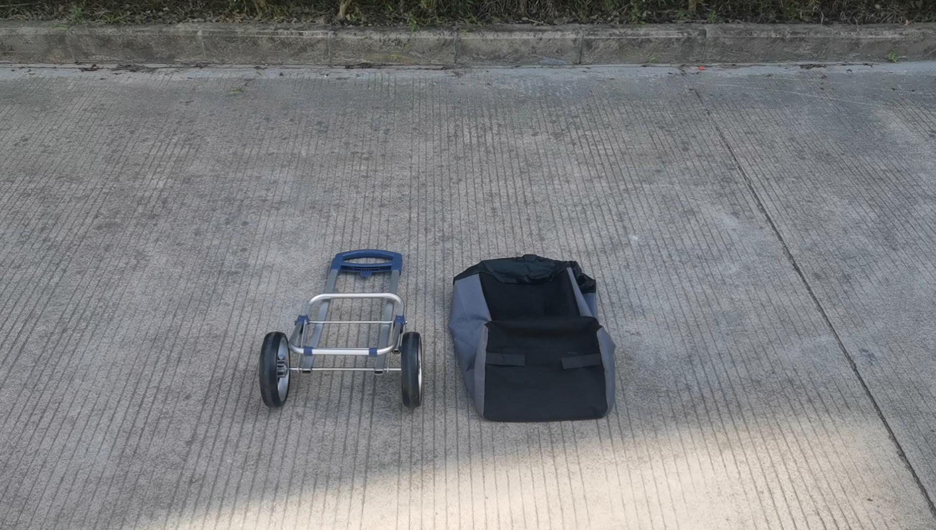 두 바퀴 수하물 카트 접이식 supermarket_shopping_trolley 휴대용 쇼핑 카트 트롤리