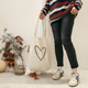 wholesale Recycle heart design canvas tote bag