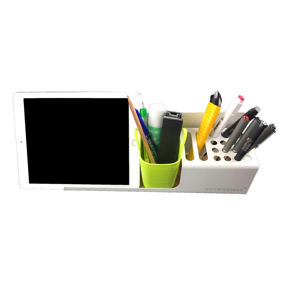 Wholesale steel metal pen pencil container pen holder desktop