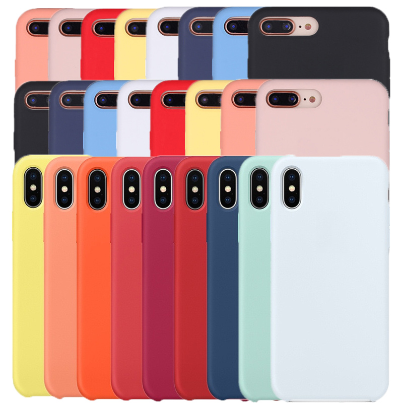 Silicone Case Original For iPhone 7 8 Plus For Apple Case For iPhone XS Max XS XR X SE 5 5s 6 6s 7 8 With Retail Box