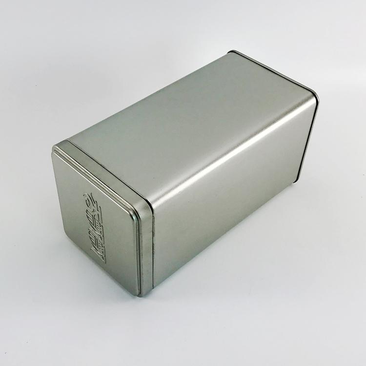 Роскошная прямоугольная металлическая пустая прямоугольная коробка для чая, конфет, подарочная жестяная коробка
