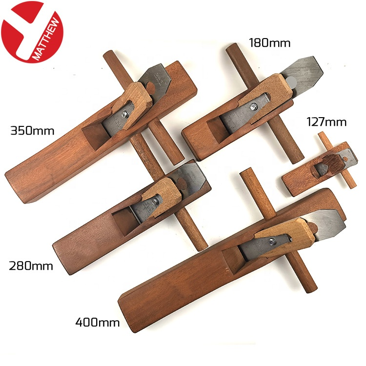 Portable Flat Base Rosewood Woodworking Tool Hand Planes with Adjustable Steel Blade