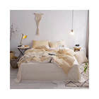 Decorative Warm Knitted Chenille Bedsheets King Size Bedding Set