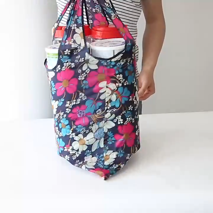 Reusable Grocery Bags Washable Foldable Shopping Tote Bags Sturdy Lightweight Eco Friendly Shoulder Bag