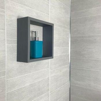 grey marble tile effect 250*8mm bathroom wall panels
