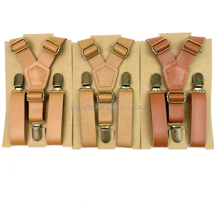 Hot selling product wedding celebration trouser brace personalized Custom leather <strong>suspender</strong>
