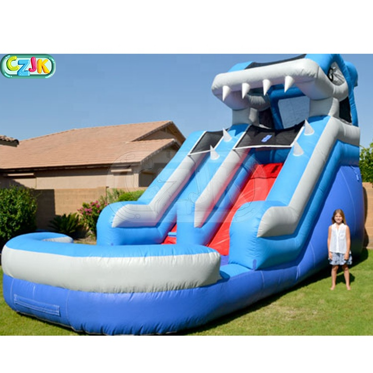 shark wet clearance small bouncy commercial inflatable water slide