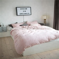 Customized 100% luxury hotel home textile white bedding sets home bed linen pink bedding set bed sheet from Manufacturer