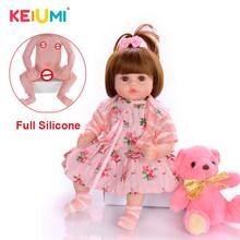 KEIUMI, оптовая продажа, Reborn Menina Menino, полностью силиконовые виниловые куклы для новорожденных, подарки на день рождения, модные банные детские ...(Китай)