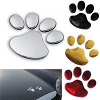 1 Pair Car Sticker Dog Paw 3D Animal Dog Cat Bear Footprint PVC Car Sticker Nick Cover Sticker for Car Auto Motorcycle Decor