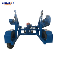 3 Ton Hydraulic Cable Carrier Cable Reel Trailer With Axis Bar