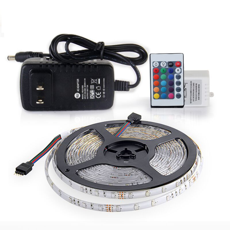 Waterproof 12 volt 60leds/m led light strips with remote