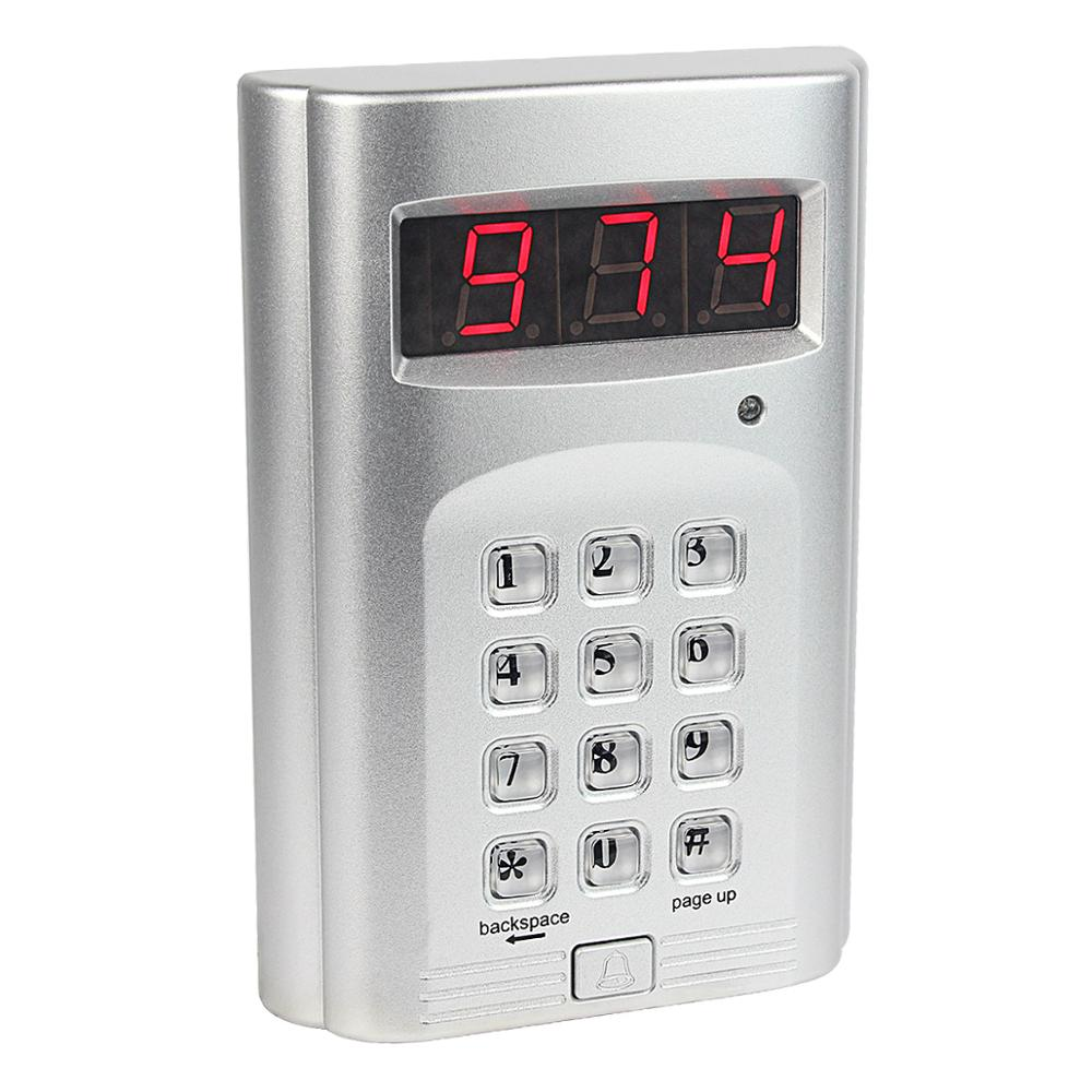 999 Channel Wireless Keyboard Call Button Transmitter for display screen calling Paging Queuing System