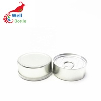 In stock 100ml food safe silver tin can with easy open lid TC-82K