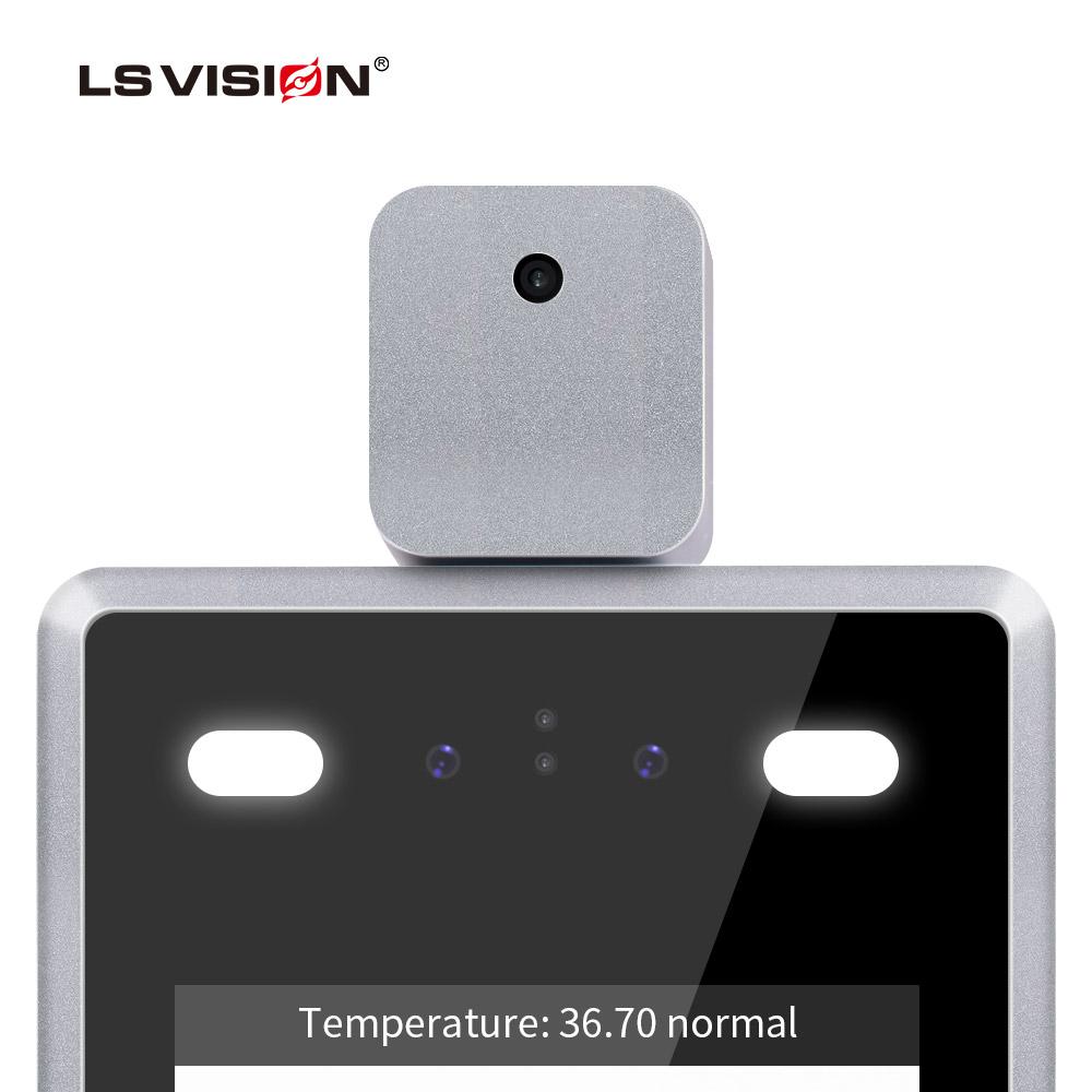 body temperature camera non contact infrared fever detection access control system attendance alarm face recognition camera