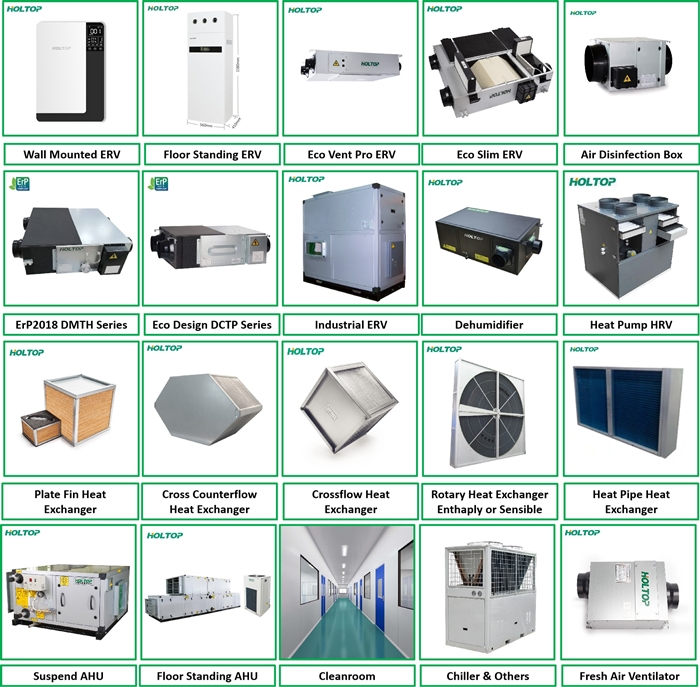 EPS structure fresh air mechanical heat recovery ventilation system for home
