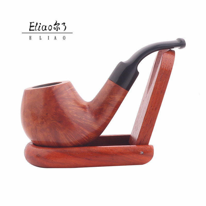 Erliao  New Types Fancy Portable Briar Carved Smoking Pipe