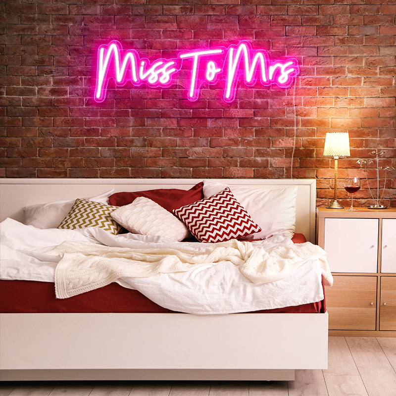 Mr&Mrs custom neon signs near me, acrylic led personalized neon signs for home
