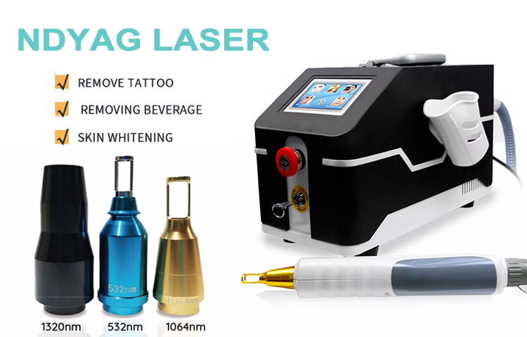1064Nm Wavelength Q Switched Nd Yag Laser Tattoo Removal Machine