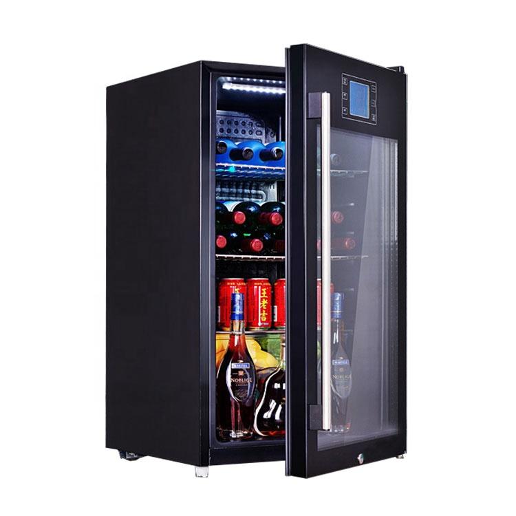 OEM 50L 75L 90L 110L cold drink refrigerator 2 in 1 glass door beverage wine cooler fridge