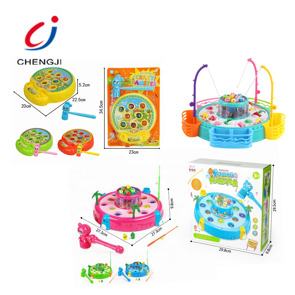 High quality child educational battery operation plastic catching fish game toy
