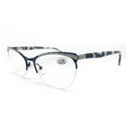 zebra printed arm progressive clear flexible photochromic round reading glasses with metal frame