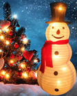 Decoration Decoration White 36 Inch Stretchable Christmas White Snowman Decoration Placed For The Outdoor Or Indoor