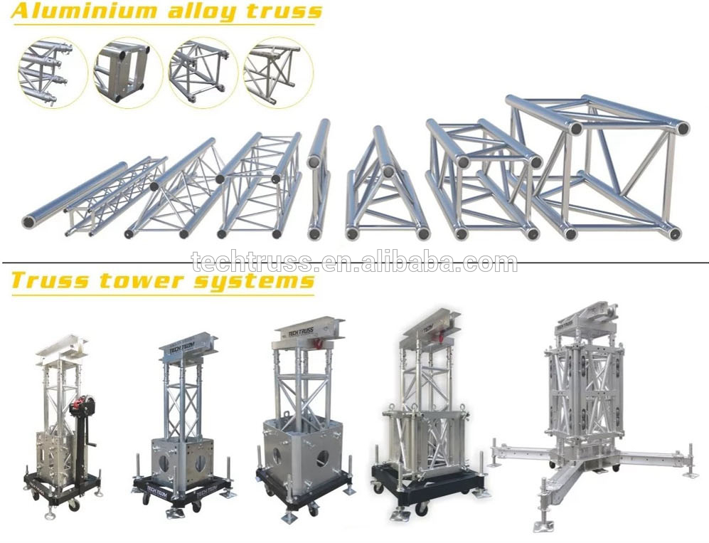 TPA01 truss support fit for lifting tower,truss tower designs