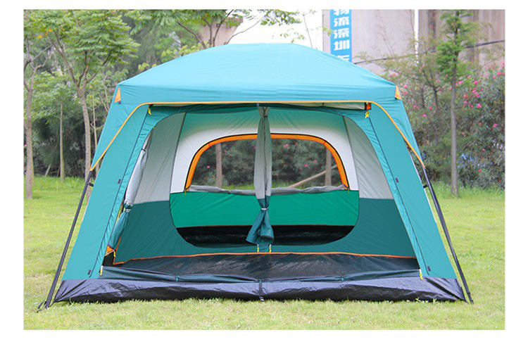 Outdoor Luxury 4-6 Person Large Family Waterproof Folding Hiking Camping Tent