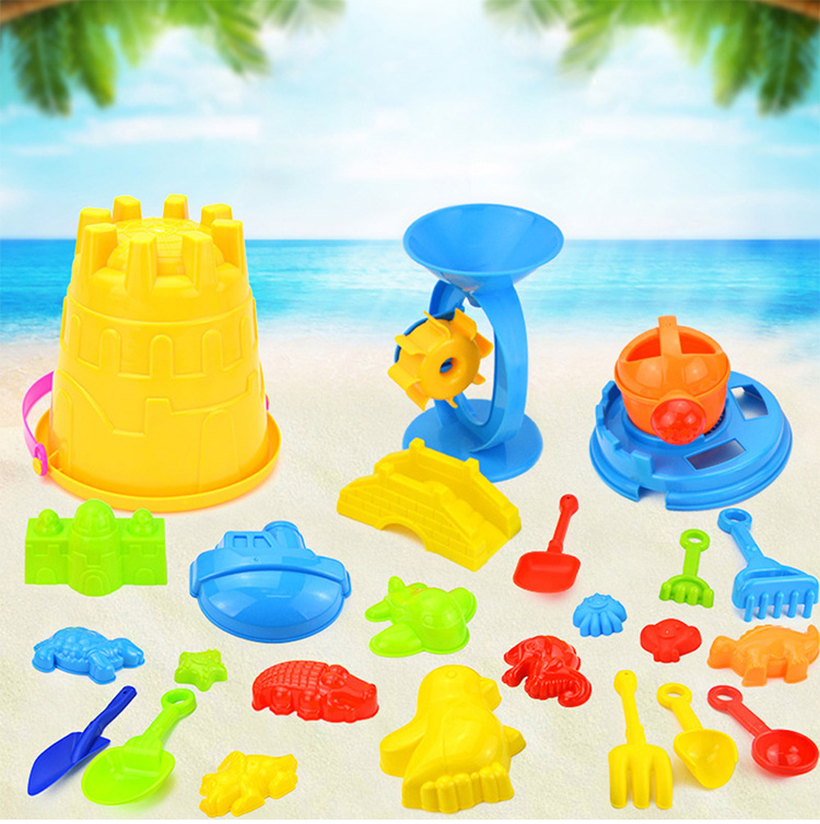 25 pieces <strong>kids</strong> plastic beach <strong>outdoor</strong> <strong>toys</strong> safe colorful beach sand <strong>toy</strong> for summer