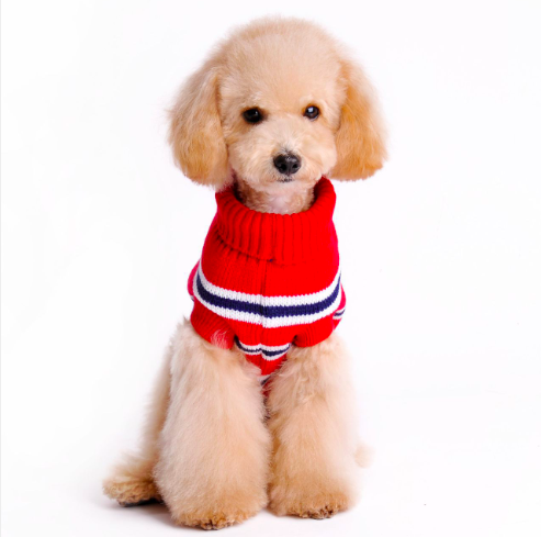 England Stripe Pet Dog Knitted Sweater Clothes For Small Large Dog Coat Jacket Golden Retriever Labrador Dog Hoodie Shirt Vest
