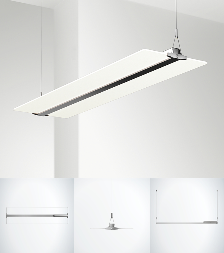 36W Clear Ultra Slim Led Panel Light Suspended Mounted Clear Panel Light, 8mm Mitsubishi LGP