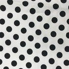 Cotton spandex printed dot twill fabric for dress 140gsm 2cm dot