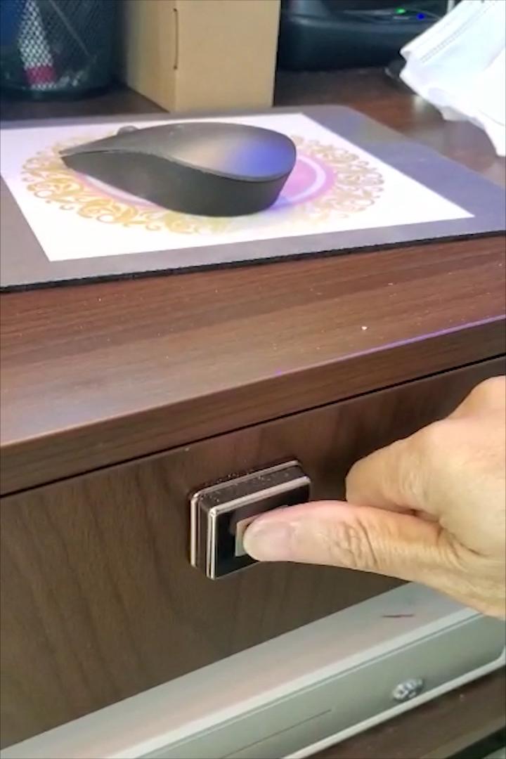 Мини-замок KERONG для офиса с Биометрическим распознаванием отпечатков пальцев