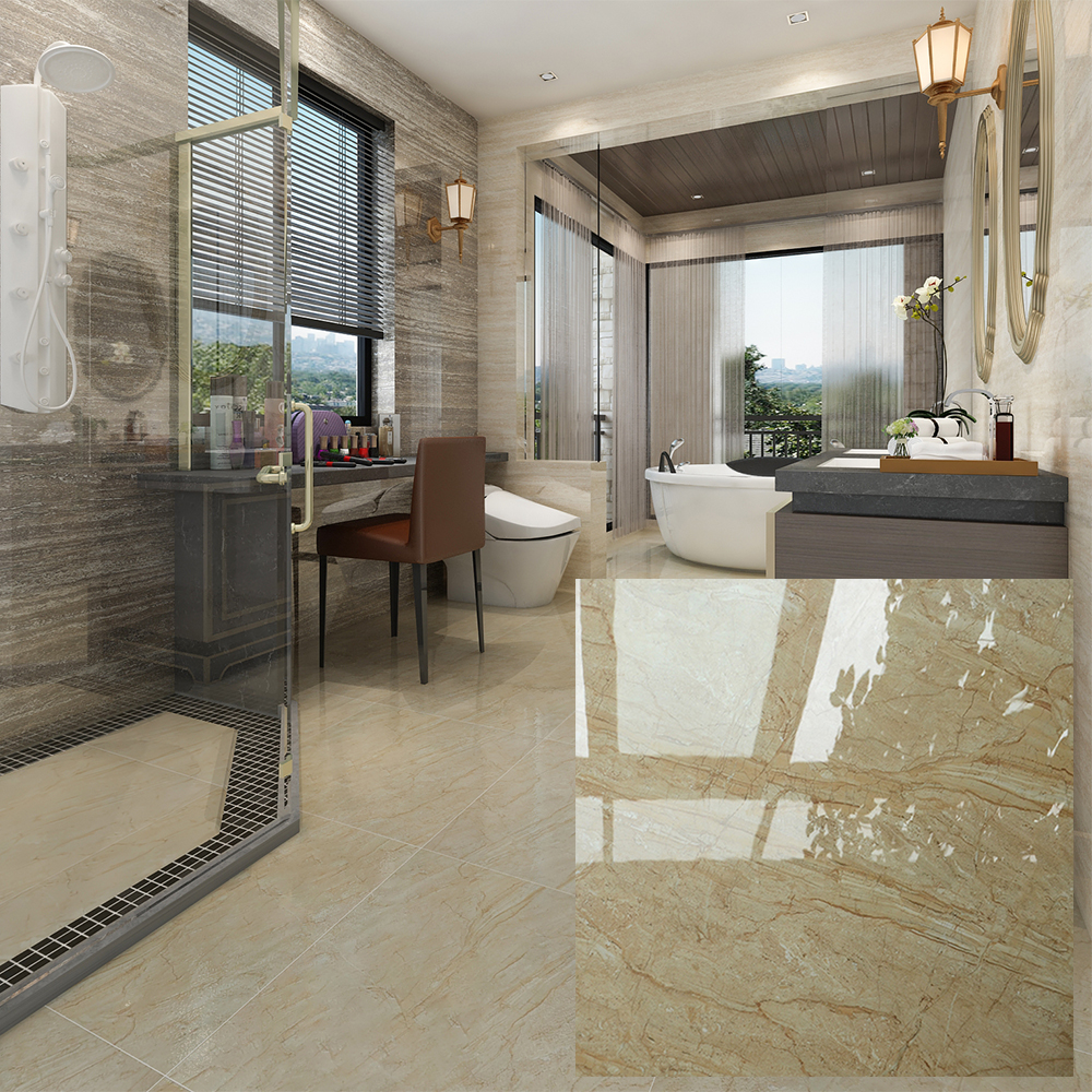 Marble look glazed kajaria vitrified ceramic floor tiles price in india