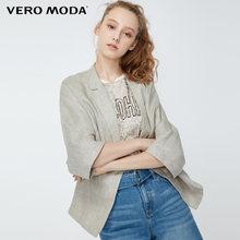 Женский блейзер из 100% льна с отворотами на рукавах Vero Moda | 319208514(Китай)
